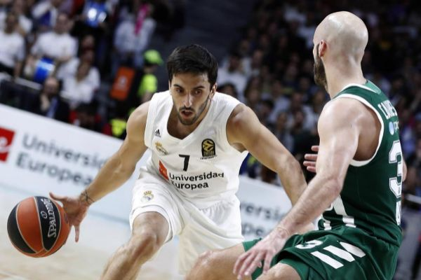 <HIT>Campazzo</HIT> (i) intenta superar a Calathes, del Panathinaikos