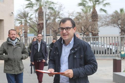 Jesús Merino, este lunes, en la Ciudad de la Justicia de Castellón.