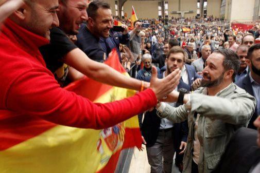 Abascal, en el acto del pasado domingo en Alicante.