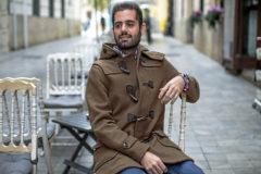 Jesús Salmerón, número 5 en Valencia por Ciudadanos a las Cortes valencianas, en la terraza del Café de las Horas.