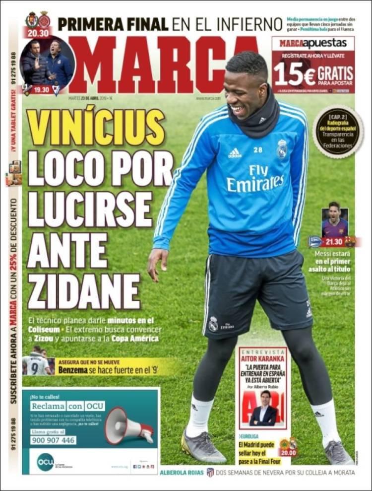 Las portadas de los periódicos deportivos del 23 de abril