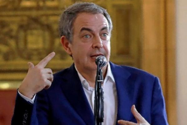 Rodríguez Zapatero, en un viaje a Caracas.