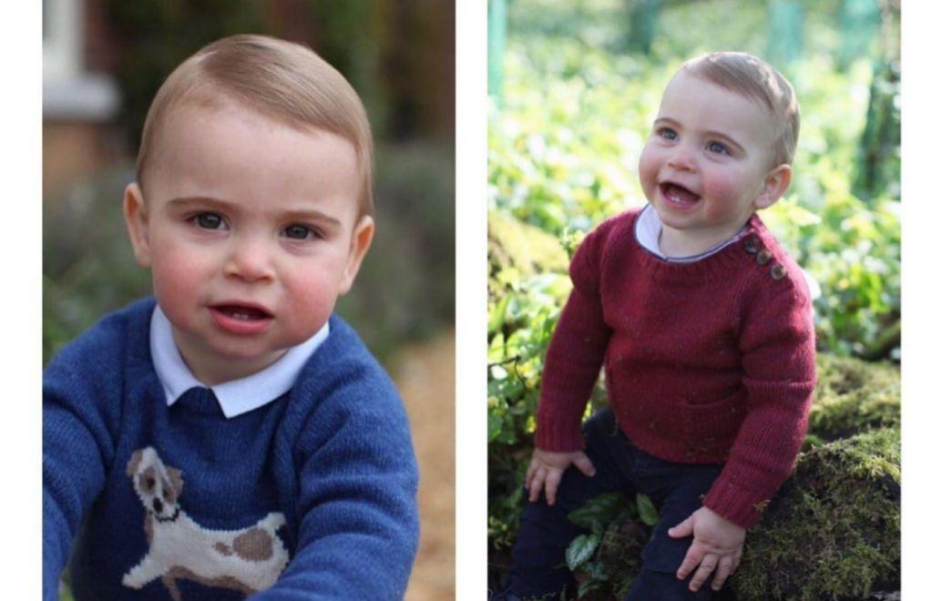 El príncipe Louis, tercer hijo de los duques de Cambridge, en su...