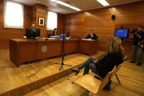 Juicio celebrado este martes contra Cristina Gabarda, candidata de Ciudadanos por Castellón a las Cortes Valencianas.