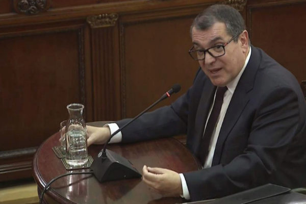 Jordi Jané, durante su declaración en el Tribunal Supremo.