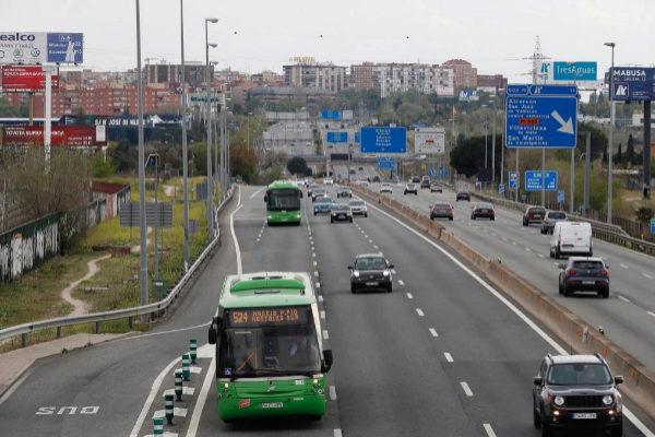La A-5, carretera de Extremadura en sentido entrada a Madrid esta Semana Santa