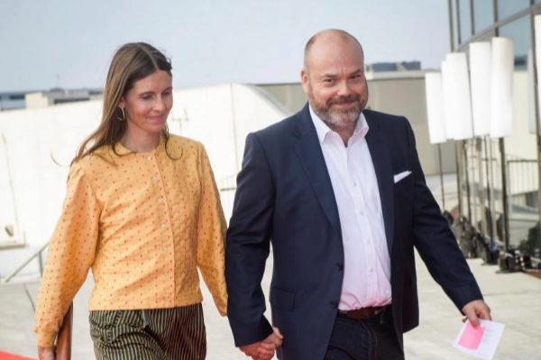 Anders Holch Povlsen y su esposa, en una imagen de archivo.