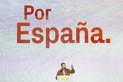 Santiago Abascal, en el acto de Las Rozas (Madrid)