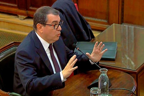 El ex 'conseller' Jordi Jané, durante su declaración en el Tribunal Supremo.
