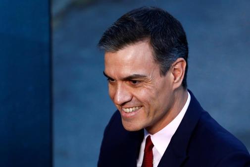 Pedro Sánchez, a su llegada al debate de Atresmedia