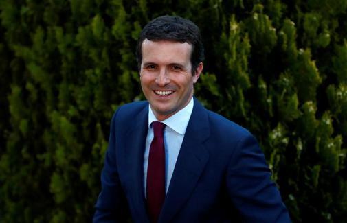 Pablo Casado, a su llegada al debate de Atresmedia