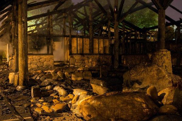 Sucesos | Un incendio destruye por completo las termas de A Chavasqueira, en Ourense