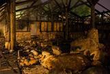 Una imagen de las instalaciones calcinadas.
