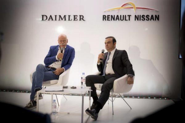 Dieter Zetsche y Carlos Ghosn, en una imagen de archivo.