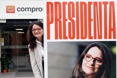"""Mónica Oltra: """"Quiero ser presidenta, pero no vengo a lucirme, puedo barrer el Palau"""""""