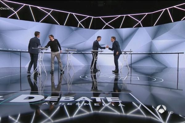 Debate a cuatro entre los principales líderes políticos.