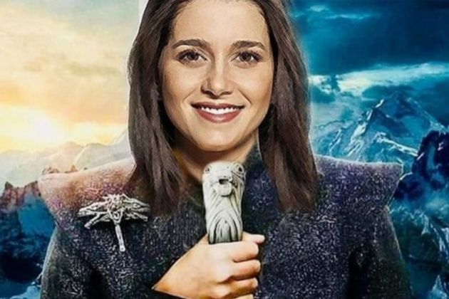 Inés Arrimadas como la Khaleesi de Juego de Tronos en una publicación promocionada que no ha sido aprobada por HBO