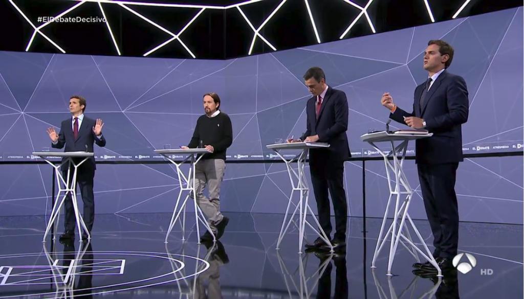 Imagen del debate en Atresmedia.