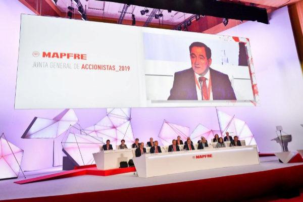 Imagen de la última junta de accionistas de Mapfre.