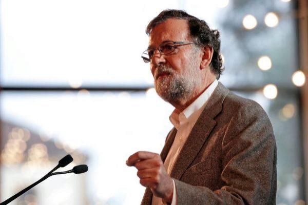 El ex presidente Mariano Rajoy durante un acto en Valencia.