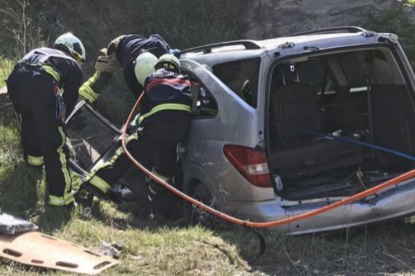 Accidente en Júndiz en el que murió la conductora.