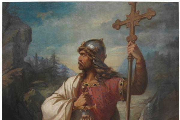 'Don Pelayo, rey de Asturias', de Luis de Madrazo y Kuntz.