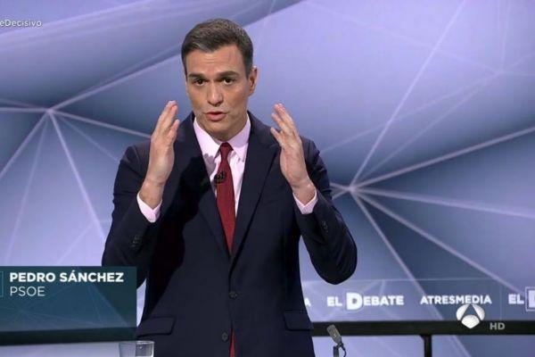 El presidente del Gobierno durante el debate de Atresmedia.
