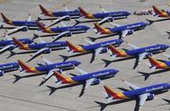 Aviones del modelo 737 Max permanecen en tierra.