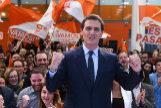 Albert Rivera, en la sede Ciudadanos tras el debate de Atresmedia