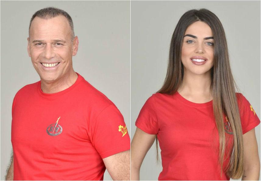 El presentador Carlos Lozano y la extronista de MyHyV Violeta...