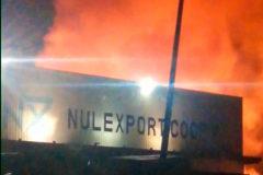 Nulexport fue víctima de un incendio registrado hace escasas semanas, aunque no afectó a la nave principal.