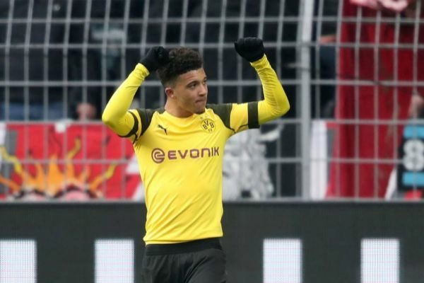 Dortmund (Germany).- Dortmund's <HIT>Jadon</HIT> <HIT>Sancho</HIT> celebrates scoring the second goal during the German Bundesliga soccer match between Borussia Dortmund and FSV Mainz 05 in Dortmund, Germany, 13 April 2019. (Alemania, Rusia) EPA/ CONDITIONS - ATTENTION: The DFL regulations prohibit any use of photographs as image sequences and/or quasi-video