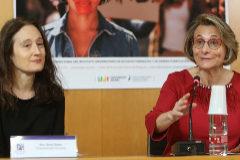 La rectora de la UJI,Eva Alcón, durante una comparecencia.