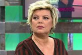 Terelu Campos en Sálvame en Telecinco, antes de su abandono del...