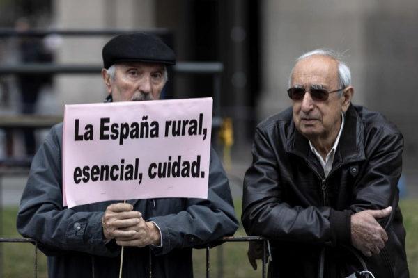 Manifestación en Madrid de la 'Revuelta de la España Vaciada'.