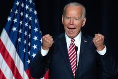 El ex vicepresidente Joe Biden durante un acto demócrata en Dover (Delaware).