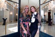 Georgina Chapman y Keren Craig en el Palacio Real de Pedralbes