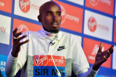 'Mo' Farah, durante la presentación del Maratón de Londres.