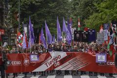 Manifestación del primero de Mayo del año pasado en Bilbao.