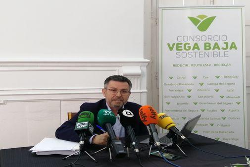 Manuel Pineda, en la rueda de prensa de ayer.