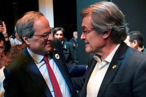 Artur Mas y Quim Torra en un acto de Junts Per Catalunya