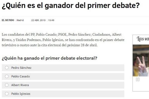 Una de las encuestas de EL MUNDO.