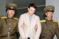 El estadounidense Otto Warmbier, detenido por las autoridades norcoreanas, en 2016.