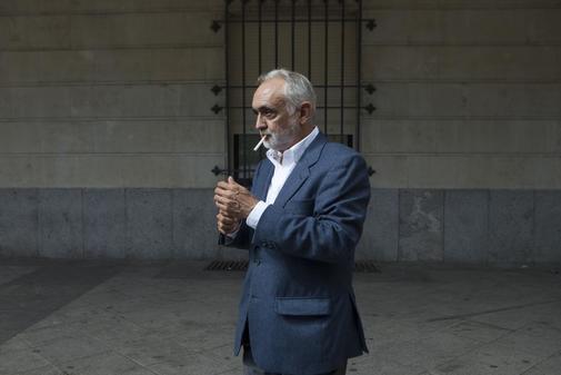 Fernando Villén, en los juzgados de Sevilla tras declarar en 2018.