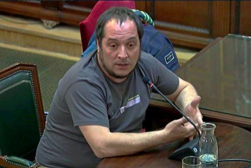 El diputado de la Cup, David Fernández, declara en el Supremo
