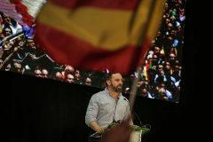Santiago Abascal, en un acto de Vox en Valencia