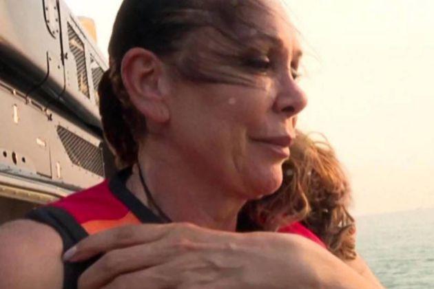 Isabel Pantoja momentos antes de su salto del helicóptero en...