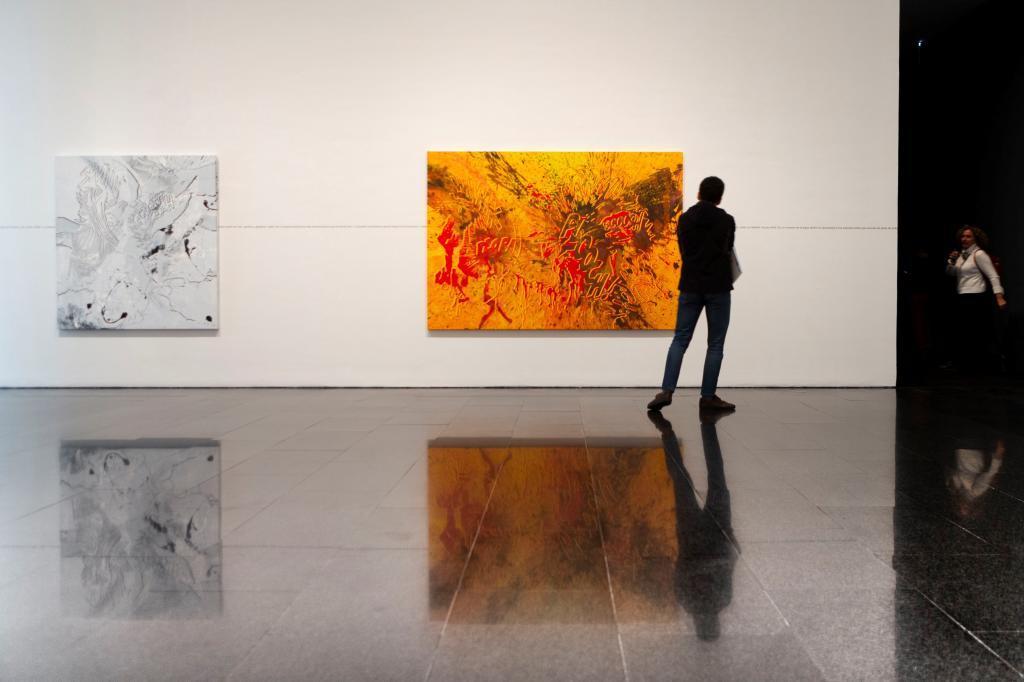 Un aspectod e la exposición de Christian Marclay en el Macba.