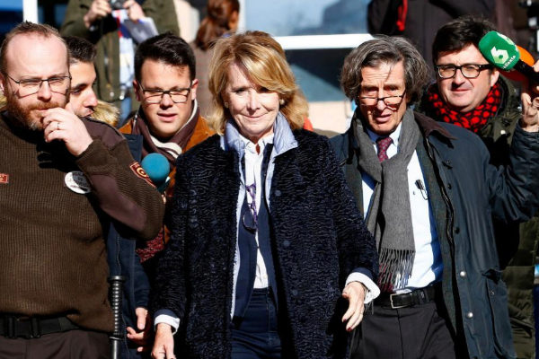 Esperanza Aguirre sale de la Audiencia Provincial de Madrid, en...