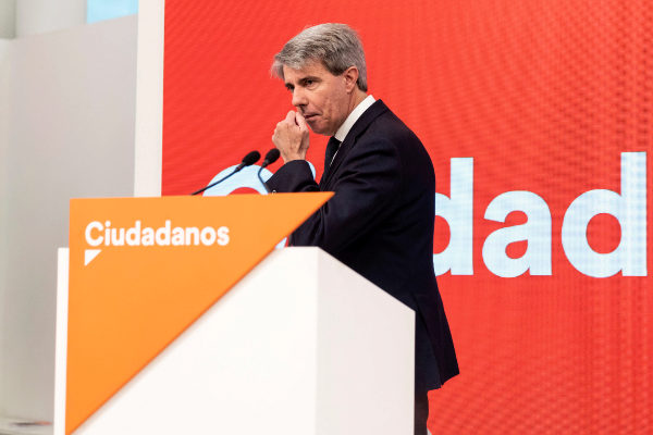 Ángel Garrido, tras anunciar su incorporación a Ciudadanos.